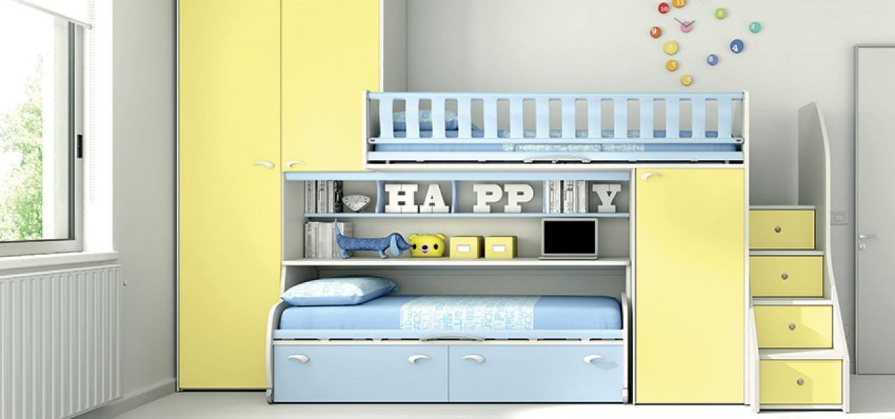 Camerette per bambini e ragazzi schiano arredamenti for Arredamenti camerette per ragazzi
